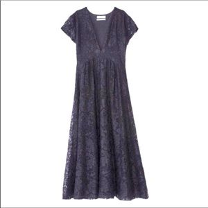 NWT URBAN OUTFITTERS black lace MIDI DRESS